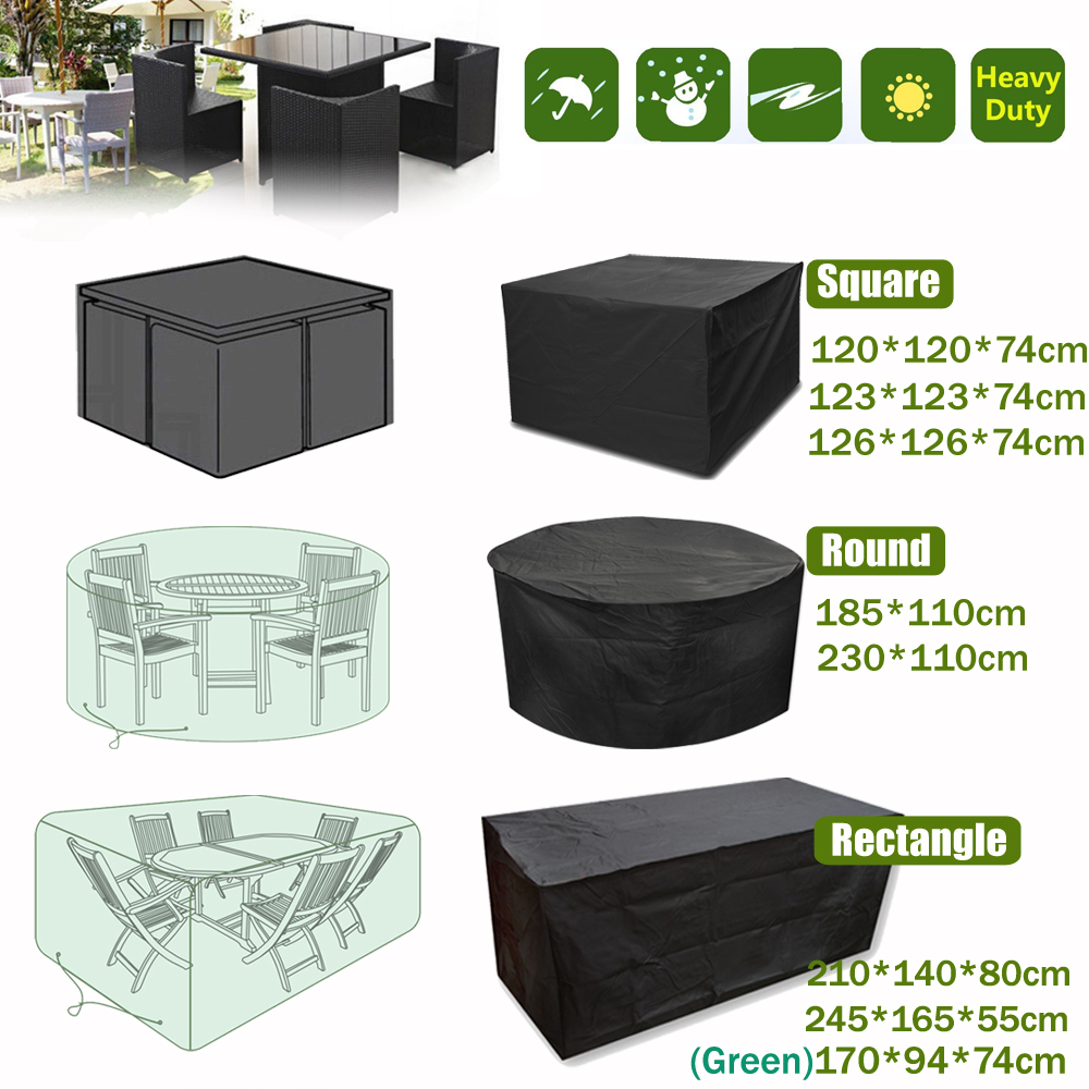 Details about extra large garden rattan outdoor furniture cover patio table protection shelter