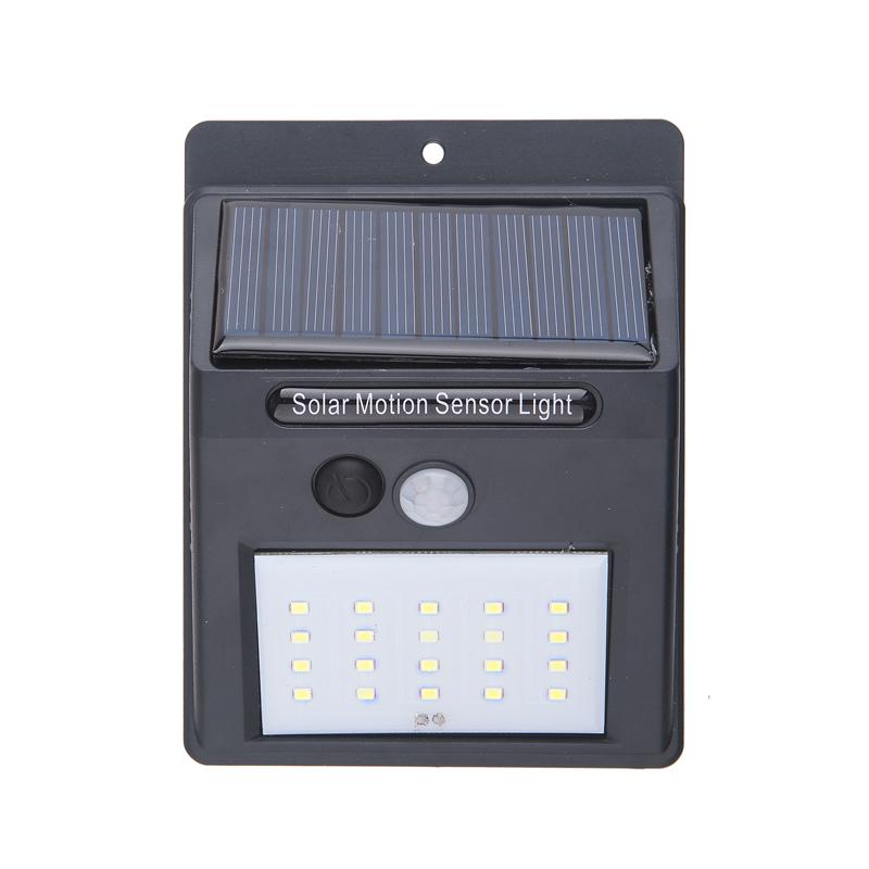 20LED Solar Powered Dual Lights Flood Lamp Security Garage