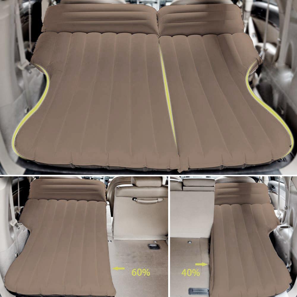 Auto Luftmatratze mit Elektrpumpe abziehbar aufblasbar Luftbett Camping Matratze